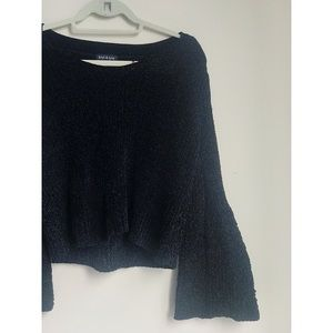 south moon under bell sleeved cable cord sweater